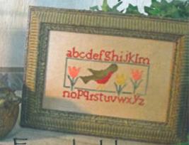 Robin Sampler cross stitch chart From The Heart  - $5.00