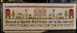 Blessed Is the Life Exclusive cross stitch chart Little House Needleworks - $7.65