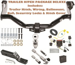 08 12 Ford Escape Trailer Tow Hitch Pkg Deluxe+ Wiring + Security Locks & Cover - $284.49