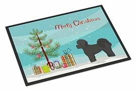 Caroline's Treasures Black Mal-Shi Christmas Tree Indoor or Outdoor Mat ... - $33.99