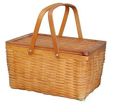 Rectangle Handwoven Chipwood Basket - $24.00