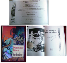 Ray Bradbury DINOSAUR TALES signed edition, mint. Beautiful copy. - $185.00