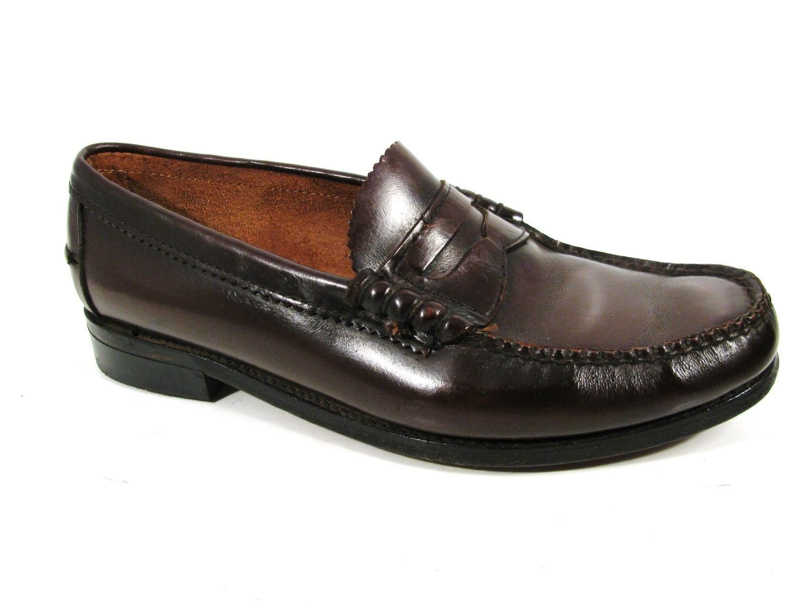 s loafers shoes burgundy made in usa leather