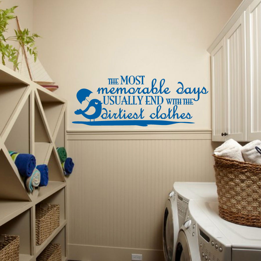 """Dirtiest Clothes Laundry Room Vinyl Wall Quote Sticker Decal 22""""w x 8.5""""h"""