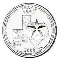 2004-P TEXAS BRILLIANT UNCIRCULATED STATE QUARTER~FREE SHIPPING~SEE OUR ... - $2.69