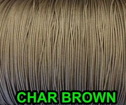 20 FEET:1.6 MM CHAR BROWN LIFT CORD for ROMAN/PLEATED shades &HORIZONTAL... - $8.90