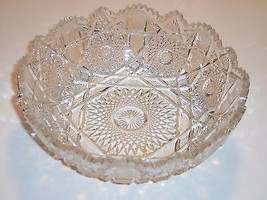 "Vintage pressed glass bowl, 3"" high, 8"" dia. - $30.00"