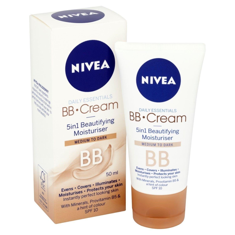 NIVEA BB CREAM 5 IN1 BEAUTIFYING MOISTURIZER 50 ml MEDIUM TO DARK