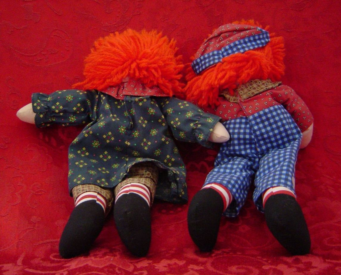 "12"" Raggedy Ann & Andy dolls Commemorative Edition by Johnny Gruelle 70110 1996"