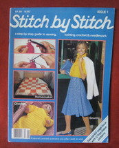 Stitch by Stitch First Issue 1982 Sew Knit Crochet How To Patterns Baby ... - $9.89