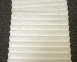 "United Shade Cotton / Alabaster Night Shade W/ Brackets Size: 13 3/4"" x 29 1/2"""