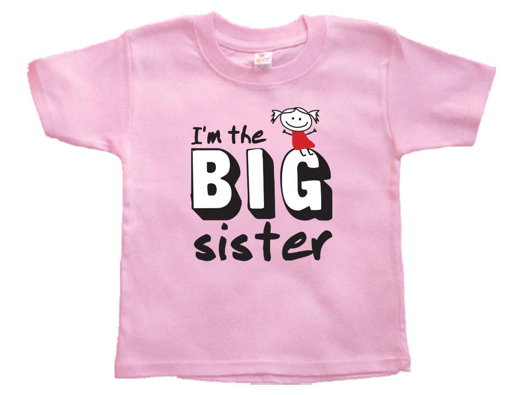 Toddler Girl I`m the BIG Sister T-Shirt, BIG Sister Announcment, Girls T-Shirt