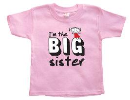 "Toddler Girl ""I'm the BIG Sister"" T-Shirt, BIG Sister Announcement, Girl... - $9.95"