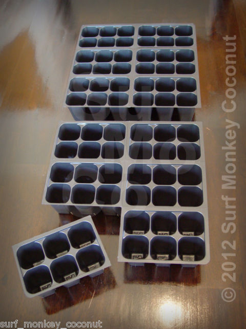 480 CELLS NEW Seedling Starter Trays +5 PLANT LABELS! Easy-Out Soil Plug Flats