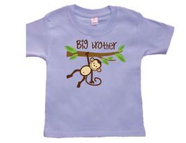 Toddler Boy Monkey Big Brother T-Shirt, Big Brother Announcment - $9.95