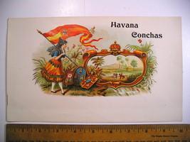 Vintage Tobacco Label HAVANA CONCHAS Cigar Inne... - $14.85