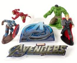 3D Avengers Cake Decorating Kit, w/4 Acton Figu... - $13.67