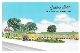 Blaine TN Guestina Motel Old Car US 11 Wyrick Manager Vintage Postcard - $6.69