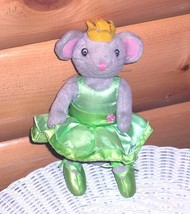 "Angelina Ballerina Poseable 9"" Mouse in Lt Green Outfit & Crown - Sababa AG - $7.59"