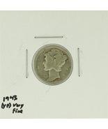 1945 United States Mercury Dime 90% Silver Rati... - $1.60