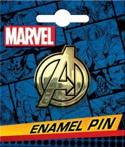 Marvel Comics The Avengers Gold A Logo Thick Metal Enamel Lapel Pin NEW ... - $7.84