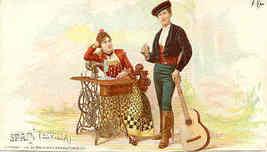 Singer Sewing Sevilla Spain 1892 Victorian Trade Card - $7.00