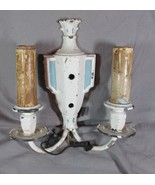 1930's Art Deco Original Paint Urn Shaped Double Candle Wall Sconce - $45.82