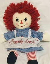 "Aurora World Raggedy Ann Classic Doll 12"" Kids Girl Xmas Fun Play Plush - $22.53"