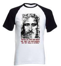 Jesus Christ Quote - New Cotton Baseball Tshirt - $27.10