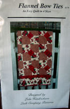 """Quilt Pattern in 4 sizes """"Flannel Bow Ties""""  Easy!  - $5.00"""