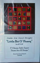 "Quilt Pattern ""Little Bit o' Honey"" 40""x 40""  5"" Charms Table Topper - $5.99"