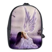 Backpack School Bag Sad Angel Beautiful Good Girl With Wings Animation Game Fant - $33.00