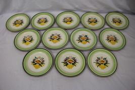 "Set of 12 Hand Painted Stangl Pottery FLORETTE Flower Urn 5073 8"" Salad ... - $119.99"