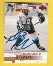 MARTY McINNIS AUTOGRAPHED CARD 2000-01 UPPER DECK ANAHEIM MIGHTY DUCKS - $4.48