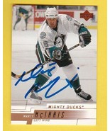 MARTY McINNIS AUTOGRAPHED CARD 2000-01 UPPER DECK ANAHEIM MIGHTY DUCKS - $4.48