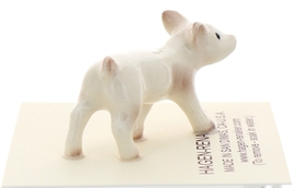 Hagen-Renaker Miniature Ceramic Pig Figurine White Mama and Baby Piglet image 8