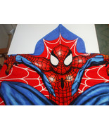 Kids Red And Blue Spiderman Marvel Cotton Terry Bath Towel With Hood Age... - $15.98