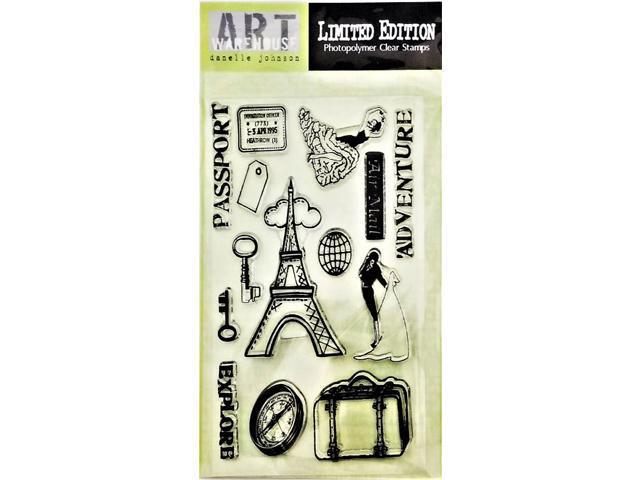 Art Warehouse World Traveler Clear Cling Stamp Set #LE8415
