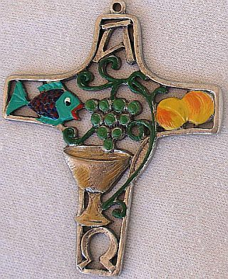 A decorative cross with christian themes 4
