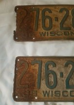 1936 36 Wisconsin Wi License Plate Pair Great Look image 2
