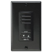 Somfy DecoFlex WireFree RTS Wall Switch; 3 Channel ,in Black (MPN# 1811070) - $171.99