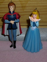 Sleeping Beauty Princess Aurora & Prince Phillip 2 Disney Ornaments - $33.85