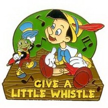 Pinocchio & Jiminy Cricket  Music Notes Authentic Disney Pin No card - $24.99
