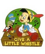 Pinocchio & Jiminy Cricket  Music Notes Authentic Disney Pin No card - $24.99