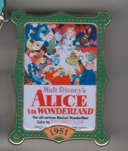 Alice in Wonderland Movie Poster Authentic Disney  Pin No card - $24.18