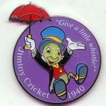 Jiminy Cricket with umbrella  dated 1940 Authentic Disney Pinocchio Pin - $29.99