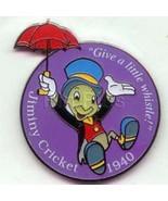 Jiminy Cricket with umbrella  dated 1940 Authentic Disney Pinocchio Pin - $29.99