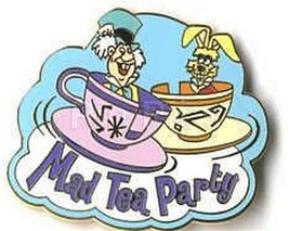 Alice Wonderland Mad Hatter ride Authentic Disney Pin No card - $33.85
