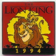 Mufasa and Simba pals The Lion King dated 1994 Authentic Disney pin no card - $14.50