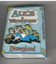 Alice in Wonderland Storybook 3D Authentic Disney DLR Pin on Backer car - $65.99